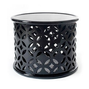 Black Solitaire Aluminium Side Table
