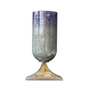 Blue Moon - Pillar Holder Aluminium and Glass