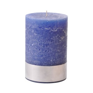 Angel Blue Medium - Blue Pillar Candle