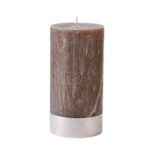 Beige Pillar Candle Large