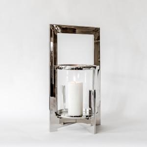 Jana - Aluminium and Glass Hurricane Lamp