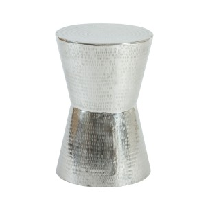 Congo  - Aluminium Hammered Introvert Side Table or Occasional Table