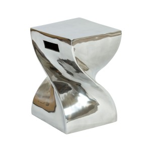 Aluminium Twisted Side Table