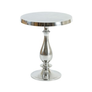Baroque Aluminium Polished Side Table