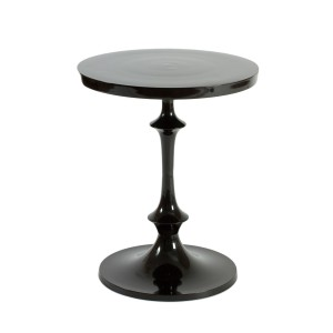 Black Polished Aluminium Chiasso Side Table