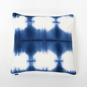 Ombre Eternity - Blue & Ivory Tie & Dye Cotton Cushion Cover