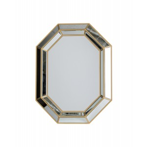 Octagonal Gold Wall Mirror