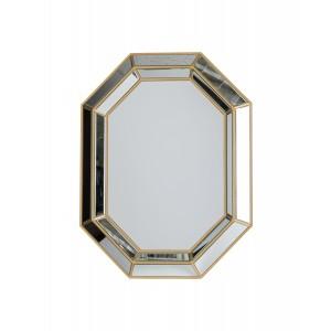 Charlotte Octagonal Gold Mirror