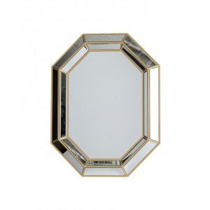 Octagonal Gold Wall Mirror
