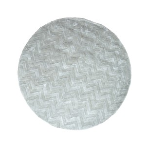 Mystic - Round  Chevron Rug in Grey