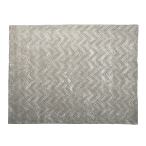 Oyster -  Chevron Rug in Grey