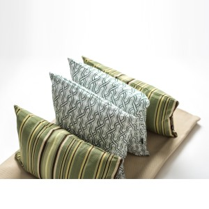 Fern Cushion Set for Bedroom - Green