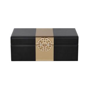 Grande - Large Black and Gold Jewellery Box