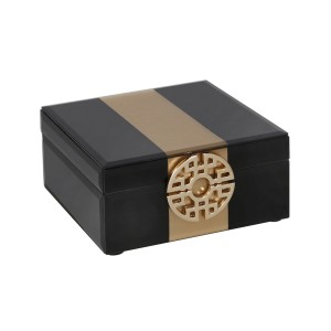 Coffer - Black and Gold Jewellery Box