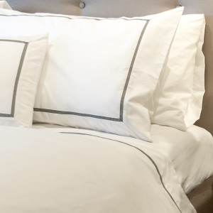 Metro - Inserted Grosgrain King Size Duvet Cover Grosgrain