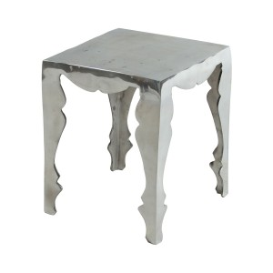Louis Silver Polished Aluminium Side Table