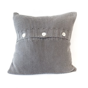 Moss Stitch Cushion Cover - Charcoal