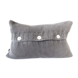 Relic - Moss Stitch Cushion Cover Charcoal