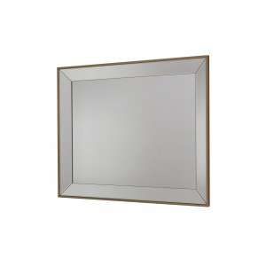 Rectangular Frameless Bevelled Wall Mirror