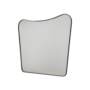 Wave Wall Mirror with Metal Frame