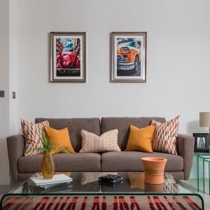 Coraline Living Room Cushion Set - Orange & Yellow