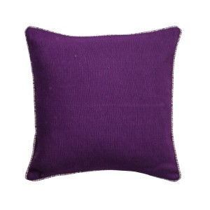 Single Purple Square Cushion Cover with Piping