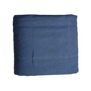 Aqua - Blue reversible padded wide panel throw - Single