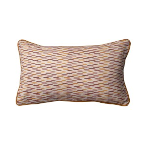 Single Rectangle orange patterned cushion cover with piping
