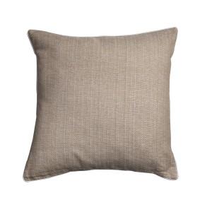 Safari - Sand cushion with white piping - Single