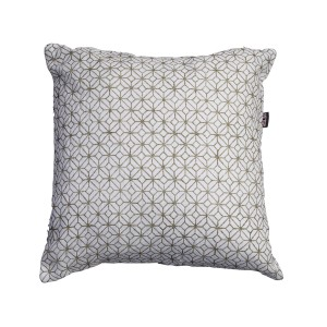 Single White patterned cushion cover