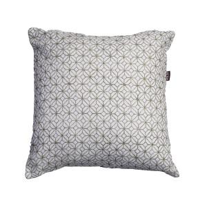 Safari - White patterned cushion - Single