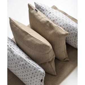 Safari - White patterned rectangle cushion - Single