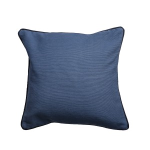 Single Blue Square Scatter Cushion Cover with Piping