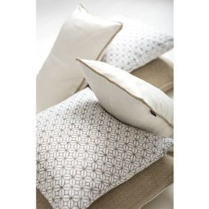 Sand & White Living Room Cushion Set