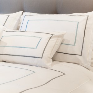 Genteel - Thick Sateen Stitch King Size Duvet Cover Silver