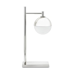 Vita - Silver Finish Contemporary Table Lamp with Designer Shade