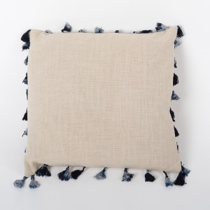 Mane Earth - Natural Beige Linen Cushion Cover with Tassels