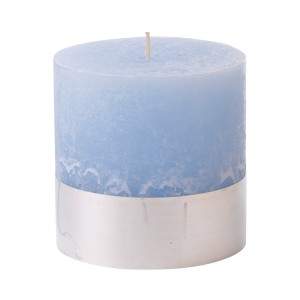 Angel Sky Small - Light Blue Pillar Candle