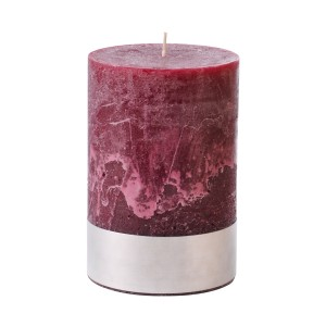 Angel Plum - Medium Bordeaux Pillar Candle