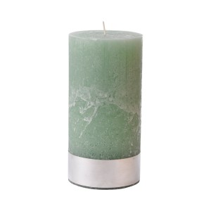 Angel Moss Large - Light Green Pillar Candle