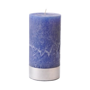 Angel Blue Large - Blue Pillar Candle