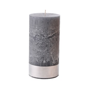 Angel Dove Large - Grey Pillar Candle