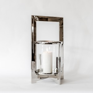 Jana - Aluminium and Glass Hurricane Lamp