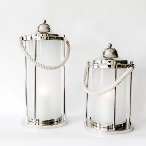 Grace Large - Aluminium and Glass Decorative Lantern