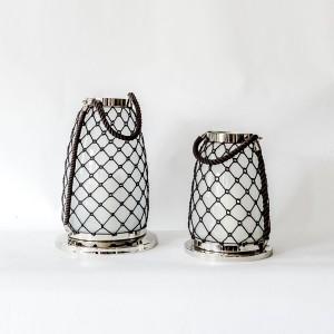Cara - Aluminium and Glass Rope Decorative Lantern