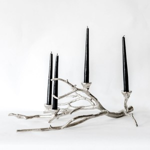 Lola - Aluminium Decorative Tree Candle Stand - 4 Candles