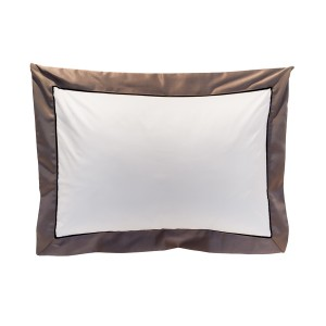 Bliss - Deep Border Bodouir Pillow Case Grey