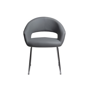 Ethen - Grey Dining Chair with Chrome Legs