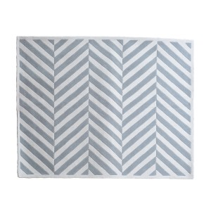 Whisper - Broken Chevron Rug in Ivory & Silver