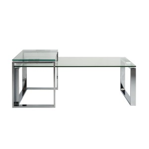 Cruise  - Katrine Side Table with Clear Glass Top and Chrome Base